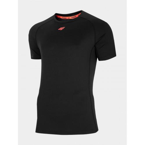 4F Tričko pánske tréningové TSMF016 Čierna