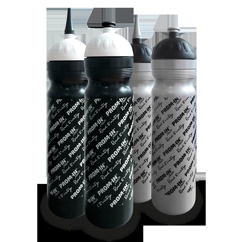 Športová fľaša PROM-IN 1000ml - s uzáverom strieborná