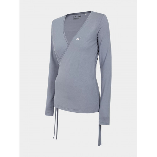 4F Tričko dámske s dlhým rukávom TSDL011 Modrá