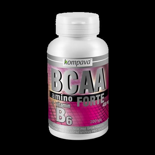 Kompava Amino BCAA Forte 2:1:1, 400 mg/200 kps 400 mg/200 kps
